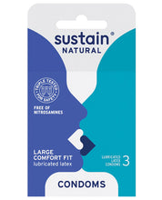 Load image into Gallery viewer, Sustain NATURAL Condoms Comfort Fit - Pack of 3