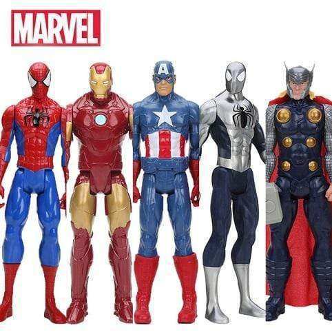 Figurines Avengers, Spiderman, iron man, thor, captain america