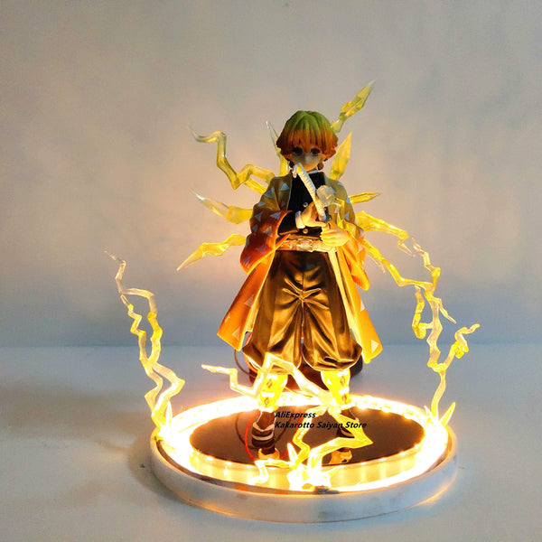 Figurine Demon Slayer Agatsuma Zenitsu PVC Action Figures Thunderclap and Flash Effect Anime Kimetsu no Yaiba Figurine