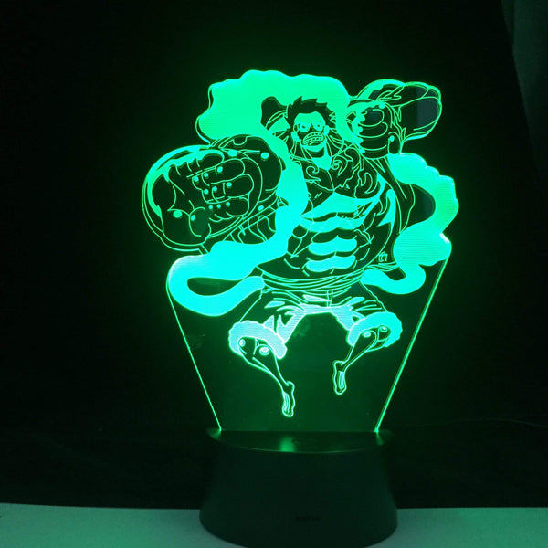 Figurine One piece Gear Fourth Figure One Piece Luffy lampe led 3D