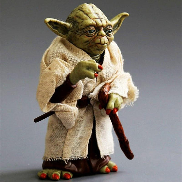 Figurine Star Wars Yoda Darth Vader Stormtrooper Action Figure Doll Toys The Force Awakens Jedi Master Yoda Anime Figures Lightsaber