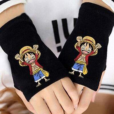 Goodies One Piece Monkey D Luffy Half Finger gants mitaines