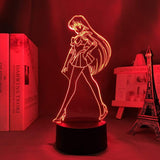 Lampe Sailor Moon Sailor Mars Lampe led 3D cadeau décor goodies manga