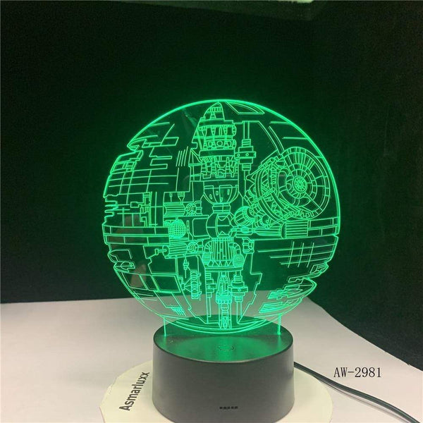 Lampe Star Wars Death Star lampe led 3D cadeau décor