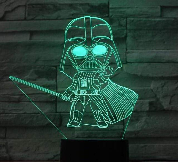 Lampe Star Wars Yoda Darth Vader LED Night Light USB Table lampe led 3D