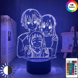Lampe Sword Art OnlineSAO Kirigaya Kazuto Table Lamp Yuuki Asuna Lampe Led 3D veilleuse Décor
