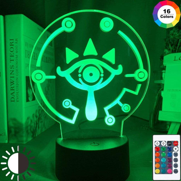 Lampe The Legend of Zelda Eyes Lampe Led 3D veilleuse Décor
