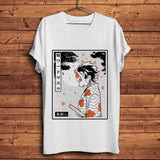 T-shirt Demon Slayer Kimetsu no Yaiba Kamado Tanjirou tshirt coton mode décontracté goodies