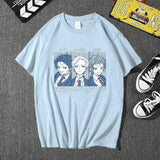 T-shirt Harajuku The Promised Neverland Emma Norman Ray  tshirt coton mode décontracté manga goodies