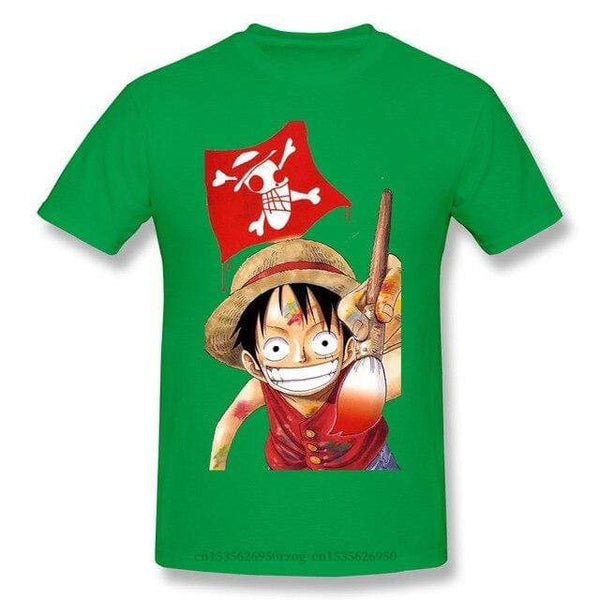 T-shirt One Piece Monkey D. Luffy tshirt décontracté mode