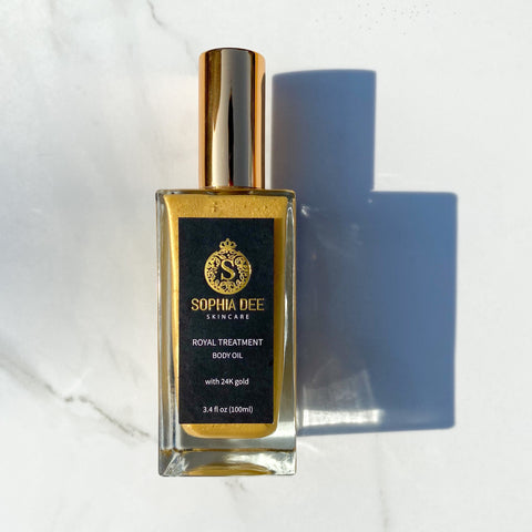 ROYAL TREATMENT Body Oil - with 24K Gold Flakes