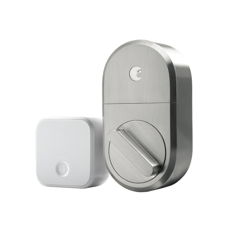 August Smart Lock + Connect - Satin Nickel
