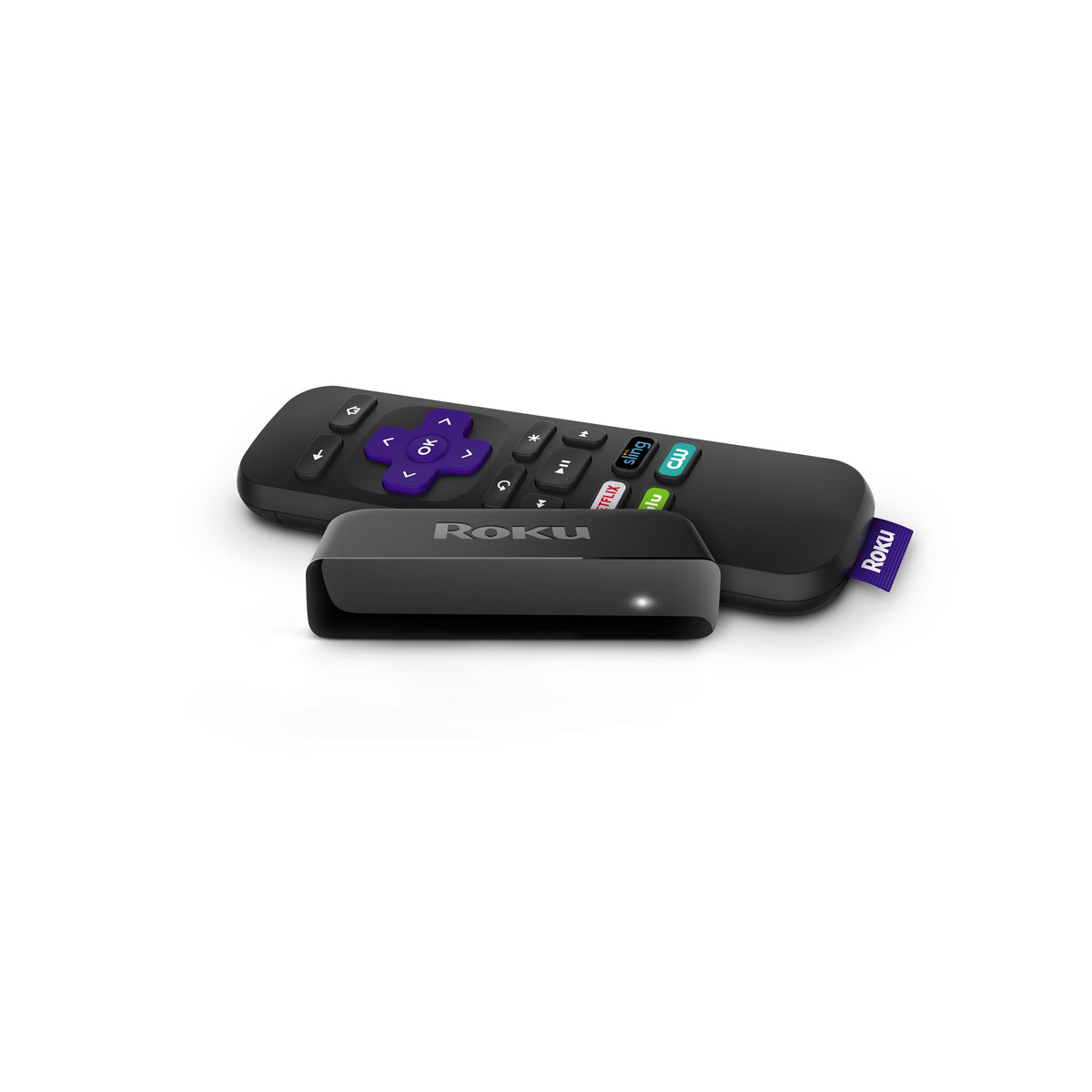 Roku Express.  Stream everything from Netflix and Prime Video, to cable alternatives like Sling TV or YouTube TV.  Roku Express is perfect for new users, but powerful enough for seasoned pros.  Easy-to-use remote and app.  Let OnTech Smart Home Techs setup your streaming devices.