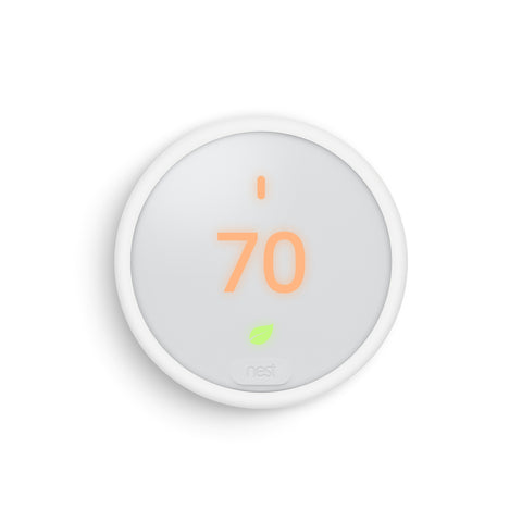 Google Nest Thermostat E. It's beautifully designed to keep you comfortable and help save energy.  Proven energy savings.  Can pay for itself in two years or less.  Control it from anywhere.  Turns itself down when you're away.  Let OnTech Smart Home techs install it for you.
