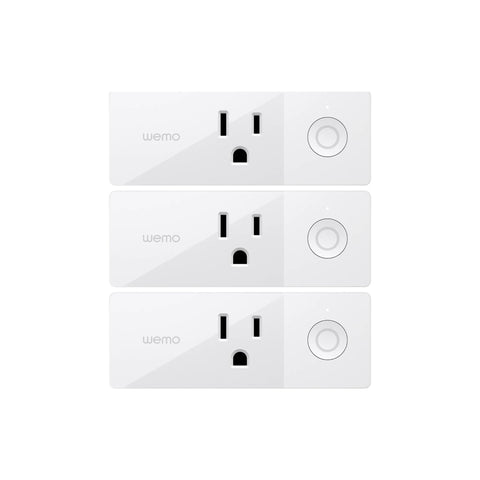 Wemo Mini Smart Plug 3 Pack