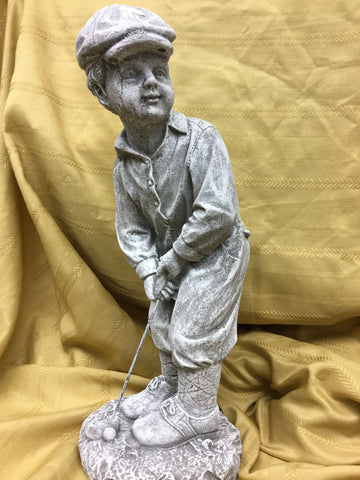 Cement Male Golfer