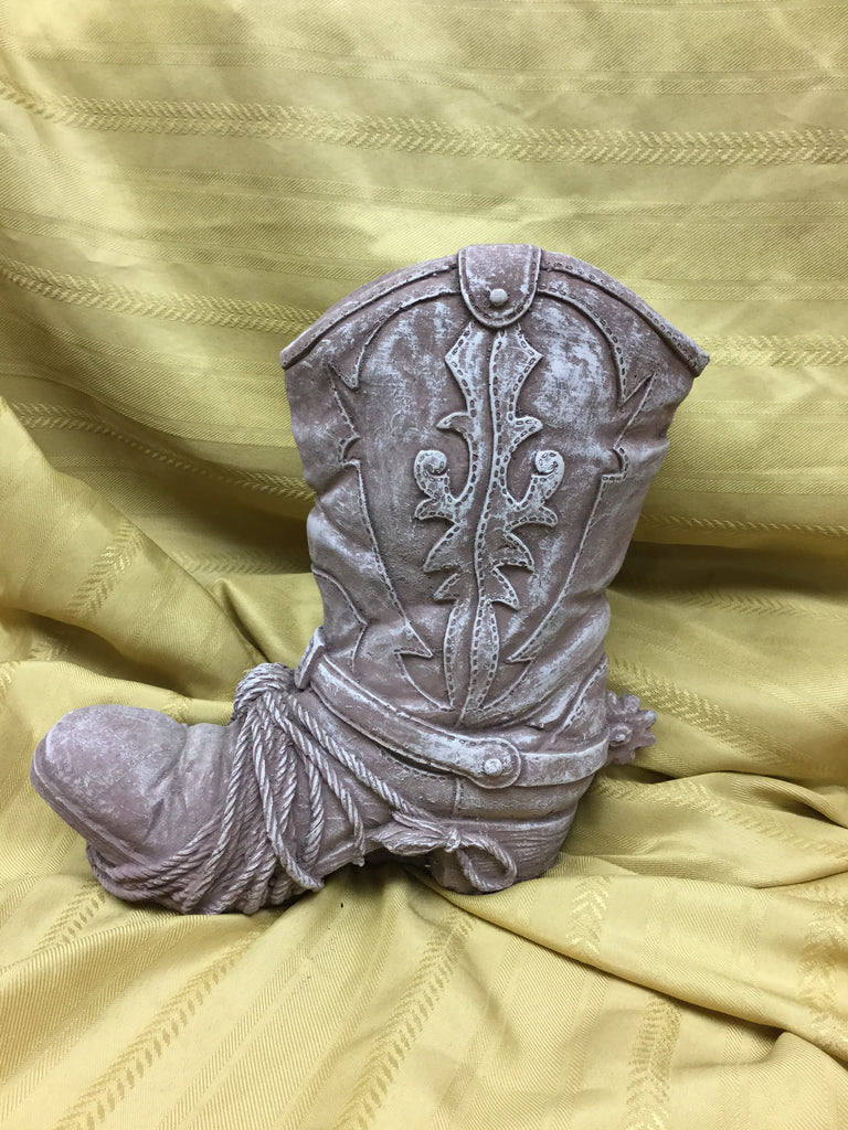 Cement Cowboy Boot Planter