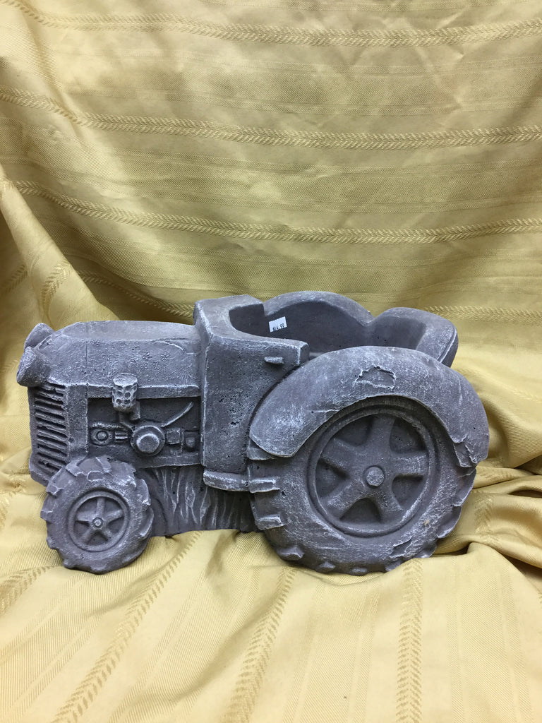 Cement tractor planter