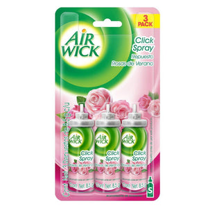 AIR WICK Click Spray 3 Repuestos 85g Rosa Aromatizante