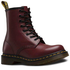 Bota Dama 1460W Cherry Red Smooth Vino Mujer Dr Martens