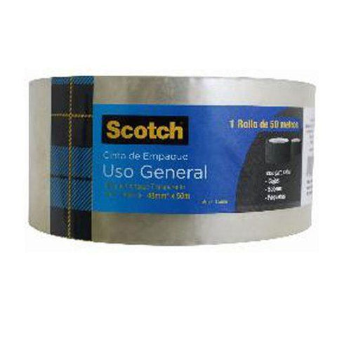3M Scotch Cinta de Empaque Transparente 48 mm x 50 m