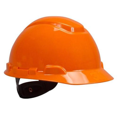 1 Casco 3M Suspension Matraca 4-Puntos Naranja H-706R