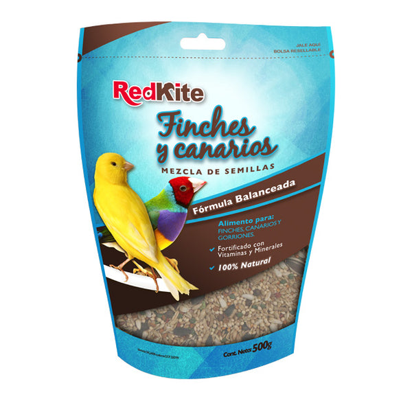 Alimento Para Aves Canarios y Finches REDKITE 500 GR