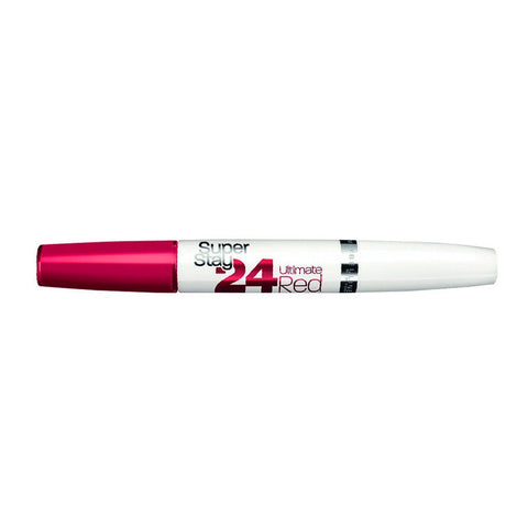 Labial Super Stay 24 Red Labios Maquillaje Maybelline
