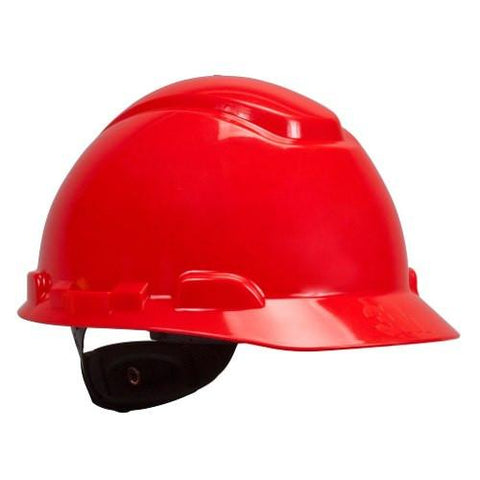 1 Casco 3M Suspension Matraca 4-Puntos Rojo H-705R