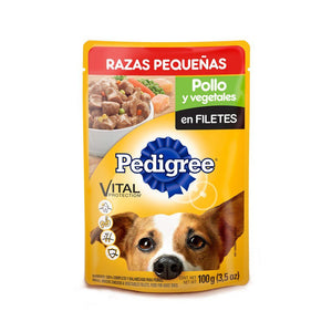 Pedigree Pack 6 Sobres 100g Adulto Pollo y Vegetales Pouch