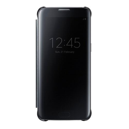 Protector Clear View Cover Negro S7 Edge Acce Samsung