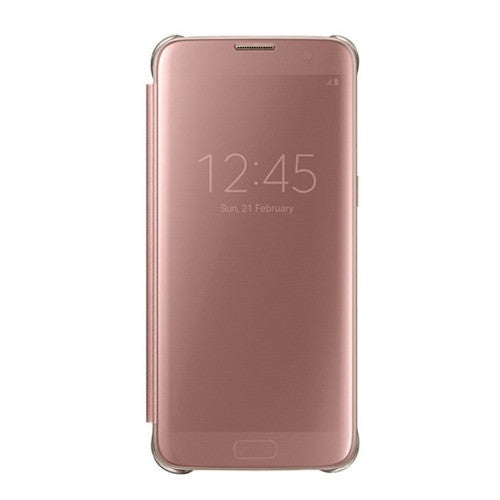 Protector Clear View Cover Rosa Oro S7 Edge Acce Samsung