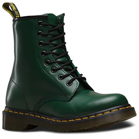 Bota Dama 1460W Green Smooth Mujer Verde Oscuro Dr Martens