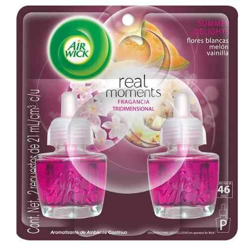 Air Wick Real Moments Repuestos De 21ml Summer Delights