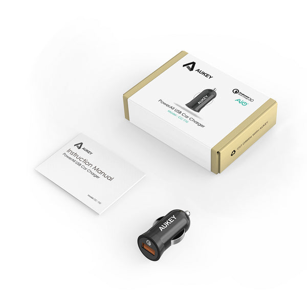 Cargador Turbo CC-T10 Car Quick Charge 3.0 Aukey