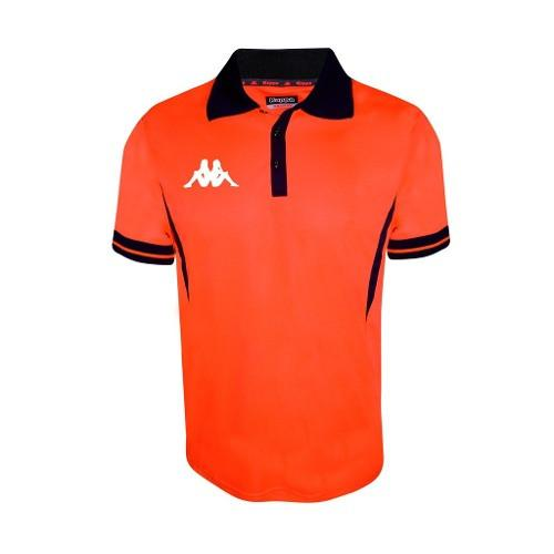 Playera Polo Casual Caballero Performance Kappa Naranja