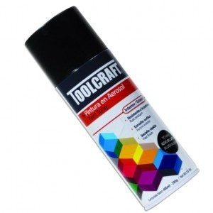 Pintura Aerosol Color Negro Brillante 400ml Toolcraft TC1641