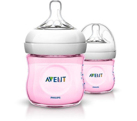 Biberon Philips Avent SCF691/27 Natural PP 4oz/125ml Rosa