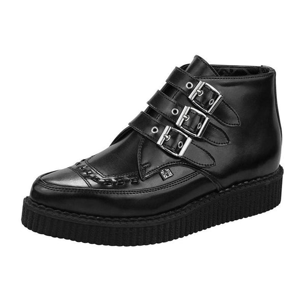 Bota Dama Urbano 3 Hebillas Pointed Creeper Boot Negro TUK
