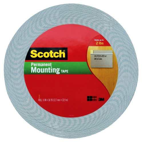 3M Scotch Cinta de Montaje Pesado 12.7 mm x 32.9 m