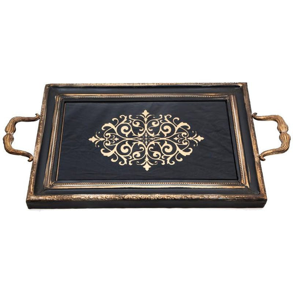 Charola Decorativa Rectangular Aluminio Decoracion BM Home BM-2282102