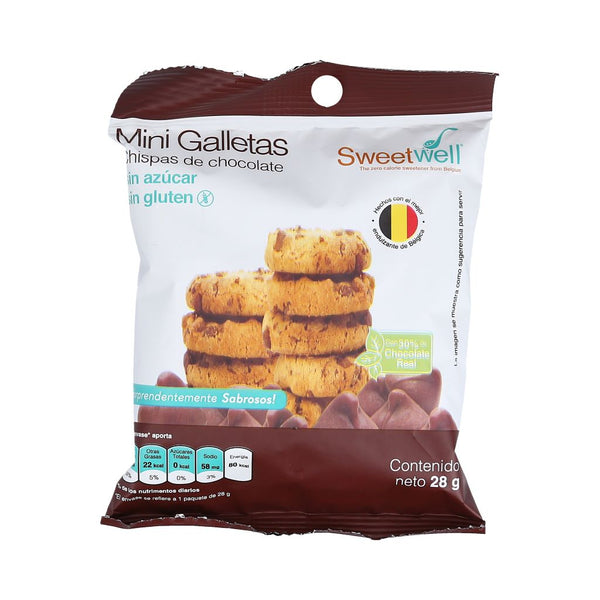 Galletas mini Chispas de Chocolate Sweetwell 0 Gluten 112gr
