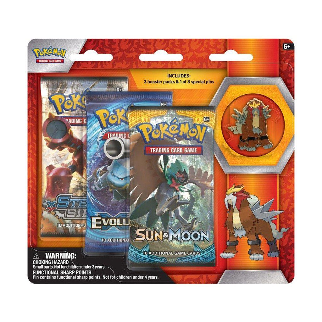 Cartas Pokemon Entei Legendary Beasts Collectors Pin Pack