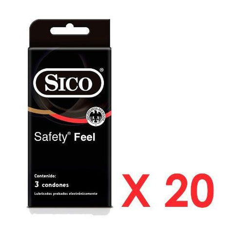 Pack Safety  De 60 Condones Sico