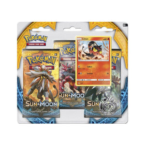 Colección Tarjetas Pokemon Soon&Moon 3 Pack Booster Blister