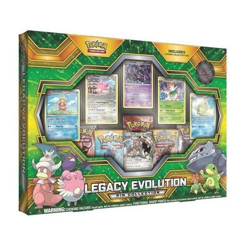 Colección Tarjetas Pokemon Legacy Evolution Pin Collection