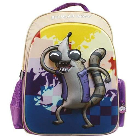 Mochila Original Infantil Nino Multicolor Regular Show CATM