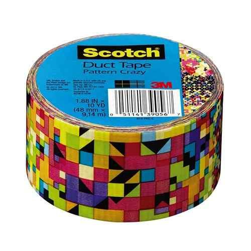 Cinta Adhesiva Duct Tape Crazy 1 .88 In X 10 Yd Scotch 3m