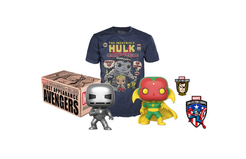 Kit A ccesorios Box Marvel Avengers 1st Appear Large Funko