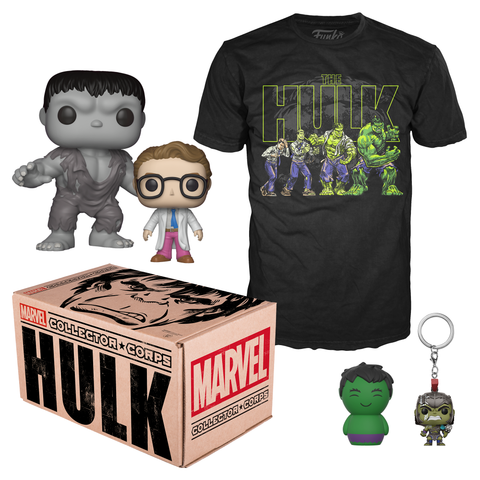 Kit Accesorios Coleccionables Box Marvel Hulk Large Funko